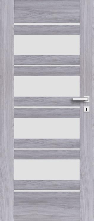 Полотно межкомнатной двери PerfectDoor EVIA 01, серый, 203.5 см x 74.4 см x 4 см