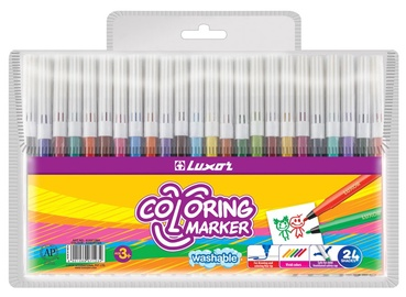 Luxor Coloring Marker Washable 24pcs