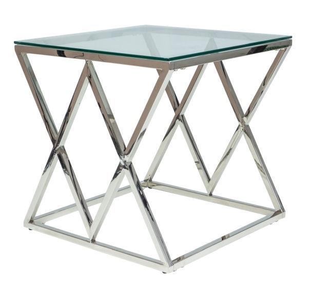 Kafijas galdiņš Signal Meble Zegna Silver, 550x550x550 mm