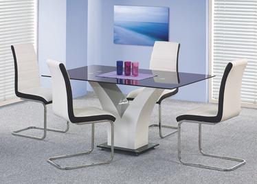 Valgomojo stalas Vesper, juoda / balta