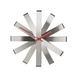 Umbra Ribbon Wall Clock Stainless Steel