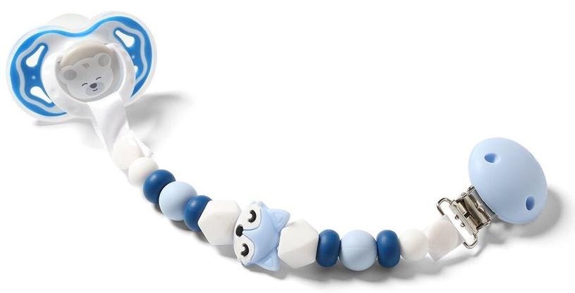Держатель для соски BabyOno Dummy Ribbon White/Blue