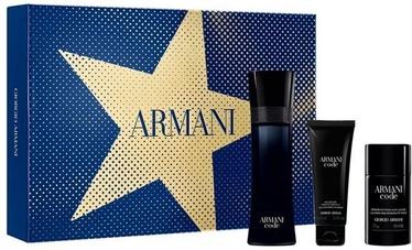 Rinkinys vyrams Giorgio Armani Black Code 125 ml EDT + 75 ml Shower Gel + 75 ml Deostick