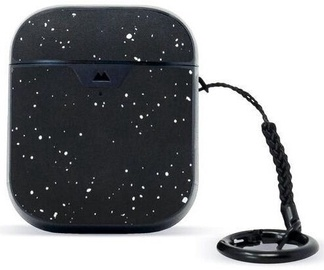 Mous Aramid Speckled Leather Slim Protective Case for Apple Airpods 1 / 2 Black