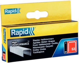 Rapid Finewire 53/6mm Red Staples 5000pcs