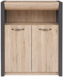 Black Red White Executive II Chest of Drawers San Remo Oak