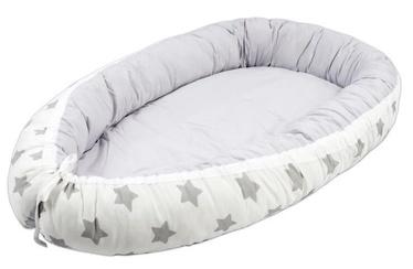 Lulando Multifunctional Baby Nest White With Grey Stars/Grey