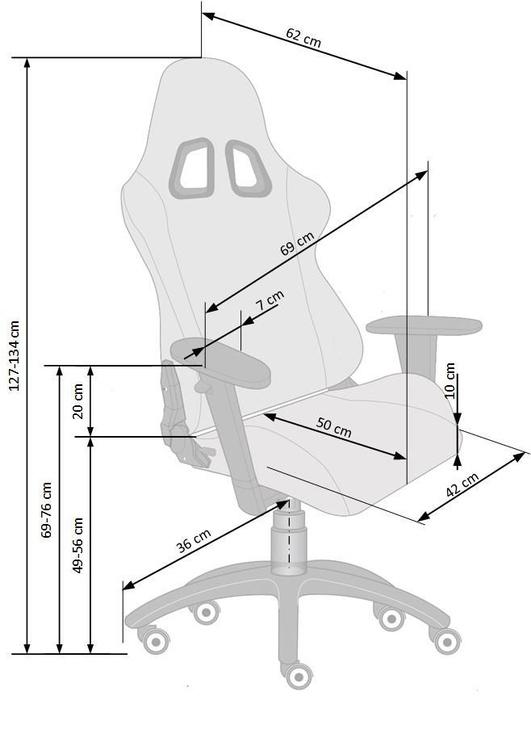 Офисный стул Halmar Drake Black/Grey
