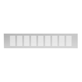 Ventilācijas reste Europlast 80x500mm, sudraba