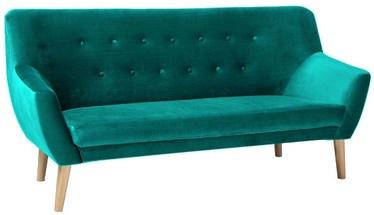 Dīvāns Signal Meble Nordic 3 Velvet Bluvel 85 Turquoise, 180 x 75 x 90 cm