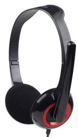 Ausinės Gembird MHS-002 Black/Red