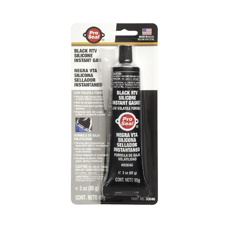 Hermētiķis ProSeal Black RTV Silicone Instant Gasket 10-043 85g Black