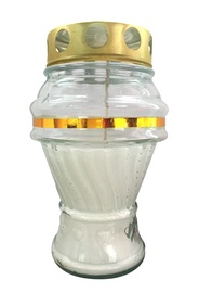 SN Tomb Candle H13.9cm White