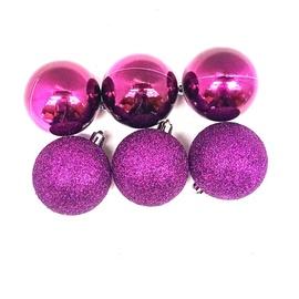 Ziemassvētku eglītes rotaļlieta Christmas Touch N3/6006AY104 Pink, 60 mm, 6 gab.