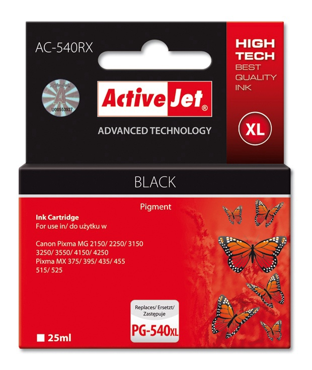 ActiveJet AC-540RX Cartridge 25ml Black