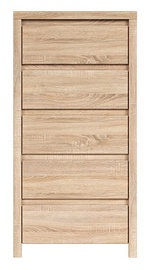 Black Red White Chest Of Drawers Kaspian KOM5S Sonoma Oak