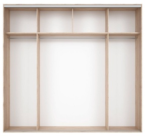 Black Red White Wardrobe Frame Nadir 250 Light San Remo Oak