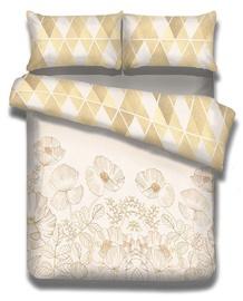 Gultas veļas komplekts AmeliaHome Snuggy, smilškrāsas, 155x220/80x80 cm
