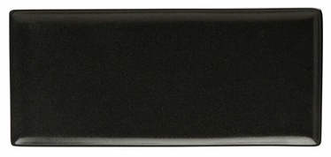 Porland Seasons Serving Plate 16.1x35.3cm Black