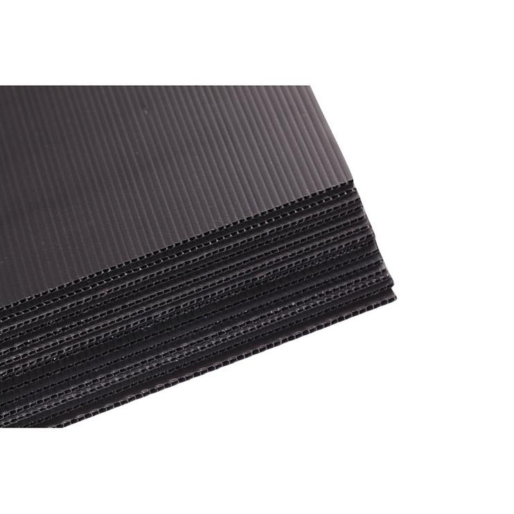 Лист SN Corrugated Plastic Sheet Black 1800x35x1000mm