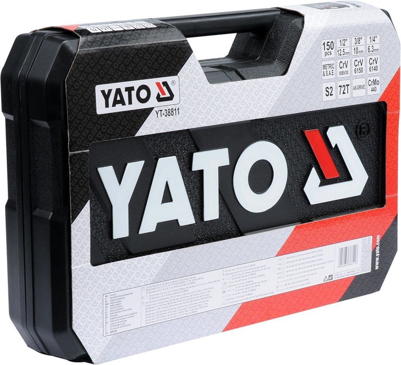 Yato YT-38811 Tool Set 1/4'' 1/2'' 3/8'' 150pcs