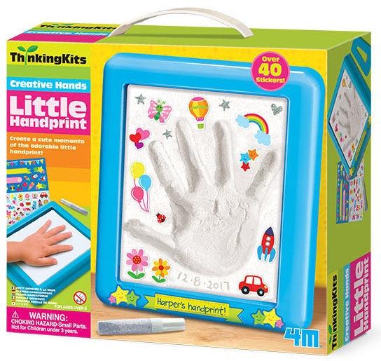 Gipsinių figūrų gaminimo rinkinys 4M Thinking Kits Little Handprint 4726