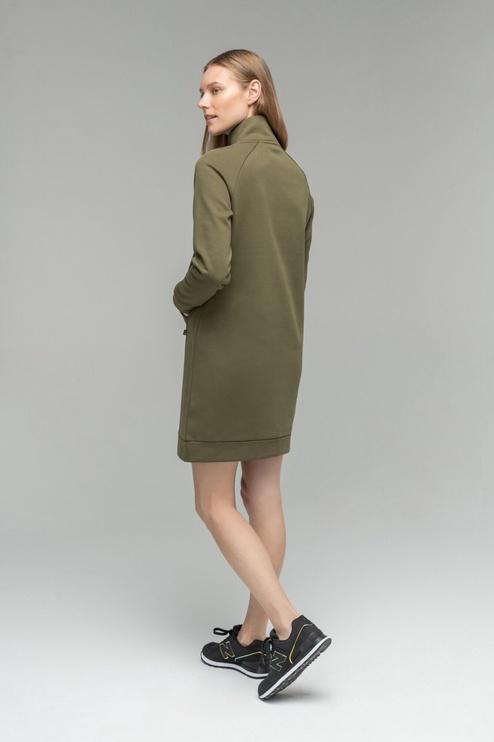 Audimas Soft Cotton Dress Olive Green L