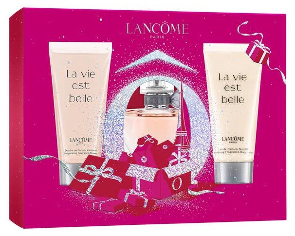Набор для женщин Lancome La Vie Est Belle 30 ml EDP + 50 ml Shower Gel + 50 ml Body Lotion New Design