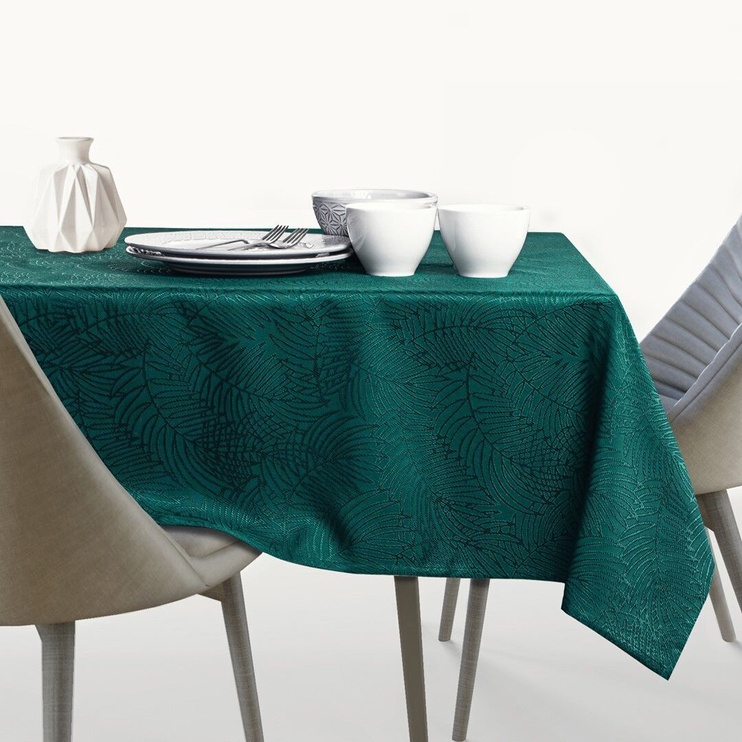 AmeliaHome Gaia Tablecloth HMD Bottle Green 140x350cm