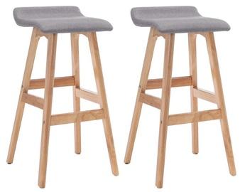 Bāra krēsls VLX Bar Stools 249578, pelēka, 2 gab.