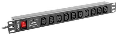 "Lanberg Surge Protector Rack PDU 10"" 1U 10A 10x Schuko 2m Black"