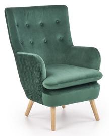 Fotelis Halmar Ravel Dark Green/Natural, 70x78x100 cm
