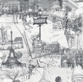 Viniliniai tapetai Paris Vintage 496435
