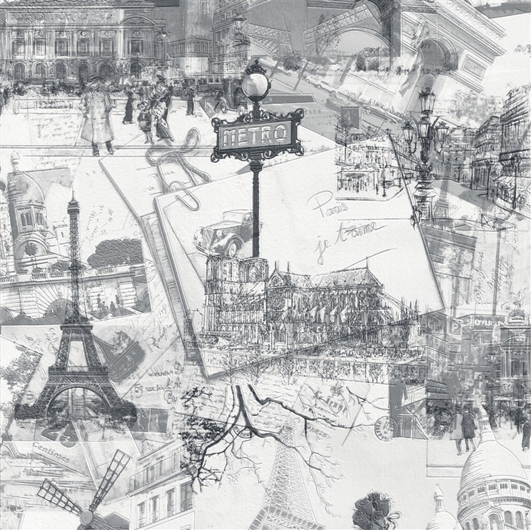 Viniliniai tapetai, Sintra, Paris Vintage, 496435