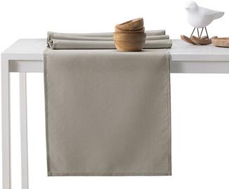 DecoKing Pure HMD Tablecloth Cappuccino Set 115x300/35x300 2pcs