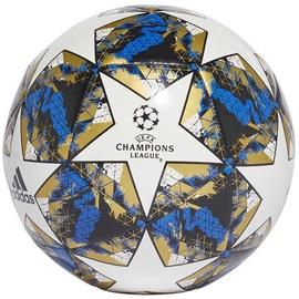 Adidas UCL Finale 19 Capitano Ball DY2555 White/Black/Gold Size 5