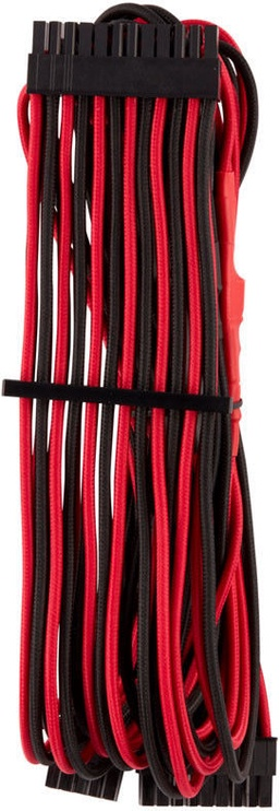 Corsair Premium Sleeved 24-pin ATX cable Type 4 Gen 4 Red/Black