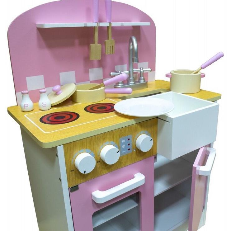 4IQ Daisy Beautiful Wooden Kitchen Pink/White