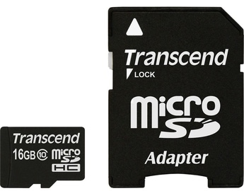 Transcend 16GB Micro SDHC Class 10 + Adapter