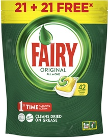 Fairy Original All In One Dishwasher Capsules Lemon 42pcs