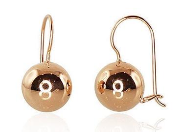 Diamond Sky 14K Red Gold Earrings Mollie IX Solid Gold 585