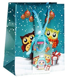 Verners Gift Bag Christmas Owls 389669