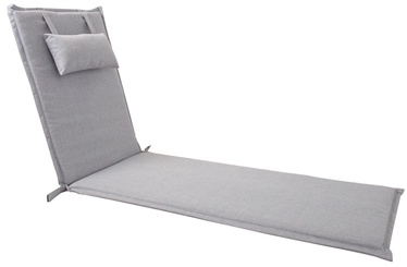 Home4you Wicker Deck Chair Pad 55x195x3cm Light Grey