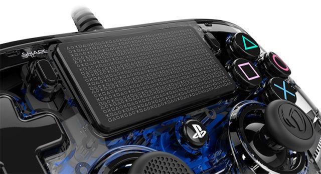 Игровой контроллер Bigben Nacon Compact Controller Wired Illuminated Blue