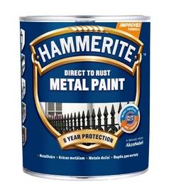Metalo dažai Hammerite Smooth, raudona spalva, 0.75 l
