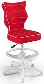 Entelo Petit Black HC+F Size 4 Children Chair VS09 White/Red
