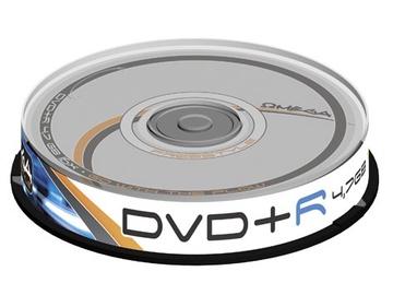 Kompaktinis diskas DVD+R Omega Freestyle, 4,7 GB, 10 vnt.