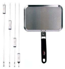 Gizzo BBQ Pan + BBQ Sliding Skewers 4pcs