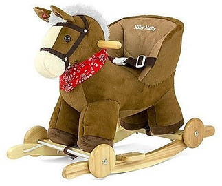 Milly Mally Rocking Horse Polly Dark Brown