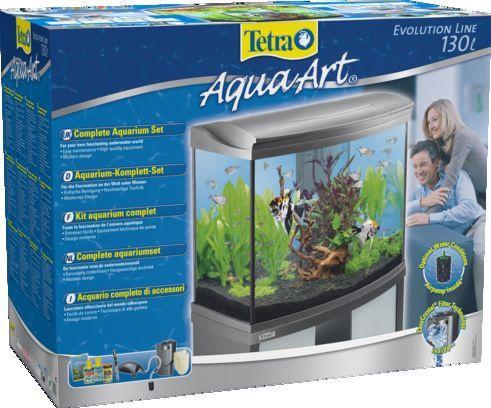 Akvariumas Tetra AquaArt, pilkas, 130 l, su įranga